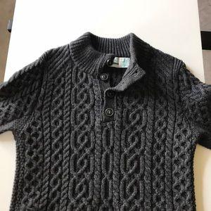 Aran Crafts 100% Merino Irish Sweater, Charcoal